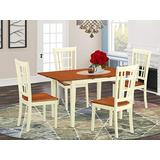 5 PcTable and Chairs set for 4-Dinette Table and 4 Kitchen Dining Chairs