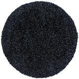 Black Shimmer Shag (5'x5') Round Rug
