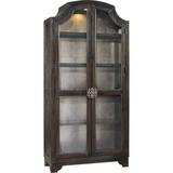 Hooker Furniture Sanctuary Lighted Display StandWood in Black/Brown, Size 90.5 H x 44.0 W x 16.5 D in | Wayfair 3031-50001