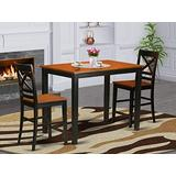 3 Pc counter height pub set - high Table and 2 counter height Dining chair.