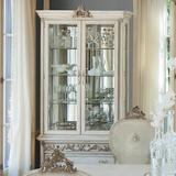 Michael Amini Platine de Royale Lighted China Cabinet Wood in Brown, Size 93.0 H in | Wayfair N09505-201