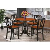 5 Pc counter height Table and chair set - high top Table and 4 Kitchen bar stool.