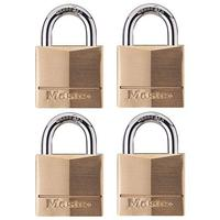 Master Lock Solid Brass Keyed Alike Padlock with 1-9/16-Inch Wide Body and 7/8-Inch Shackle