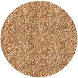 Pelle Leather Shag Round Rug, 4 by 4-Feet, Tan