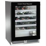 Perlick 40 Bottle Panel Ready C-Series Freestanding Wine Refrigerator in Gray, Size 34.25 H x 24.0 W x 23.88 D in | Wayfair HC24WB-4-4R