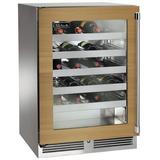 Perlick 32 Bottle Freestanding Wine Refrigerator in Gray, Size 32.0 H x 24.0 W x 23.88 D in | Wayfair HA24WB-4-4R