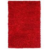 Red Shimmer Shag (4'x6') Rug