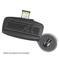 """Safco Premier 2143 Keyboard Platform with Control Zone (0.3"""" x 21"""" x 11.5"""" - Black)"""