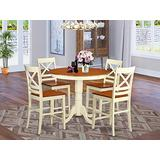 5 Pc counter height Dining room set-pub Table and 4 counter height Chairs