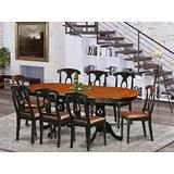 9 Pc Dining room set-Dining Table with 8 Wooden Dining Chairs