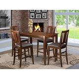 5 PC counter height Dining room set-pub Table and 4 Kitchen bar stool