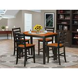 5 Pc counter height pub set - Small Kitchen Table and 4 Kitchen bar stool.