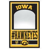 """WinCraft Iowa Hawkeyes 11"""" x 17"""" Mirror Wood Sign"""