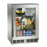 """Perlick Signature Series 144 Can 24"""" Undercounter Mini Fridge Glass in Gray, Size 34.25 H x 24.0 W x 23.88 D in 