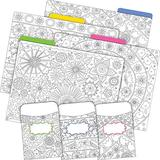 Barker Creek Designer File Folder and Library Pocket Set, Color Me! in My Garden, 12 Colorful File Folders and 36 Coordinating Peel & Stick Library Pockets, Home, School and Office Supplies (3538)