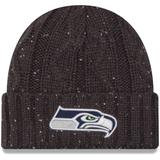 """""""Women's New Era Graphite Seattle Seahawks Cable Frosted Cuffed Knit Hat"""""""