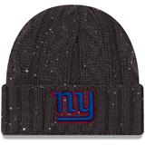 """""""Women's New Era Graphite York Giants Cable Frosted Cuffed Knit Hat"""""""