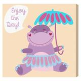 Zoomie Kids Merlino Little Octopus Area Rug Canvas in Indigo, Size 12.0 H x 12.0 W x 1.5 D in   Wayfair VVRO4760 32350927