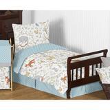 Sweet Jojo Designs Woodland Toile 5 Piece Toddler Bedding Set 100% Cotton in Blue/Gray/Green | Wayfair WoodlandToile-Tod
