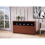 Hokku Designs Stark Sideboard Wood in Brown/Red, Size 35.5 H x 62.5 W x 19.0 D in | Wayfair KUI9188 32605079