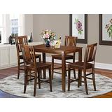 5 PC counter height pub set - high Table and 4 Kitchen Chairs.