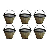 Think Crucial 4 Cup Gold Tone Coffee Filter in Brown, Size 1.0 H x 1.0 W x 1.0 D in   Wayfair 700953601254