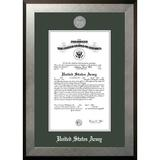 Patriot Frames Army Certificate Honors Picture Frame Wood in Brown/Gray/Green, Size 18.75 H x 16.25 W x 1.5 D in | Wayfair ARCHO0028.5x11
