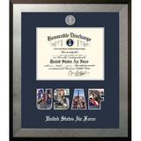 Patriot Frames Air Force Discharge Honors Picture Frame Wood in Blue/Brown/Gray, Size 18.0 H x 18.0 W x 1.5 D in | Wayfair AFDHO002S10x14