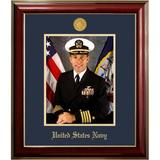 Patriot Frames Navy Portrait Classic Picture Frame in Blue/Brown, Size 17.75 H x 15.75 W x 1.5 D in | Wayfair NAPCL001