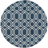 Breakwater Bay Marshfield Geometric Handmade Looped/Hooked Navy/Ivory Indoor/Outdoor Area Rug Polypropylene in Blue/Brown/Navy   Wayfair