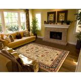 Astoria Grand Lisette Oriental Hand-Knotted Wool Camel Area Rug Wool in Brown, Size 117.0 H x 93.0 W x 0.45 D in   Wayfair ASTG3488 32729917