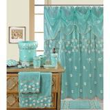 Daniels Bath Embassy Single Polyester in Blue, Size 70.0 H x 72.0 W in | Wayfair MAYA SHOWER CURTAIN AQYA
