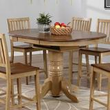 """Loon Peak® Baboquivari 42"""" Extendable Dining Table Wood in Brown/Green, Size 36.0 H in   Wayfair LOON7225 32733120"""
