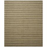 Laurel Foundry Modern Farmhouse® Montfort Houndstooth Handmade Flatweave Green/Natural Area Rug Cotton/Jute & Sisal in Brown/White | Wayfair
