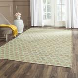 Laurel Foundry Modern Farmhouse® Montfort Polka Dots Handmade Flatweave Green/Natural Area Rug Cotton/Jute & Sisal in Brown/Green | Wayfair