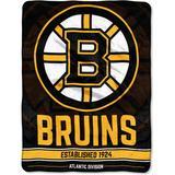 """The Northwest Company Boston Bruins 46"""" x 60"""" Break Away Micro Raschel Throw Cover"""