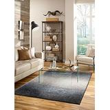 Mohawk Home Augusta Chester Ombre Woven Abstract Contemporary Shag Area Rug, 5'x8', Chocolate Brown