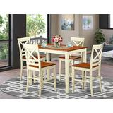 5 Pc counter height Table and chair set - high Table and 4 Kitchen Chairs.