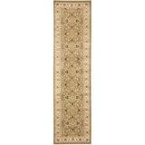 Charlton Home® Ottis Oriental Green/Ivory Area Rug Polypropylene in Brown/Green/White, Size 192.0 H x 27.0 W x 0.43 D in   Wayfair