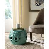Safavieh Mei Double Coin Ceramic Decorative Garden Stool, Light Blue