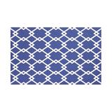 Breakwater Bay Quinto Geometric Print Fleece Throw Polyester/Fleece & Microfiber in Blue, Size 80.0 W in | Wayfair BRWT6003 32825396