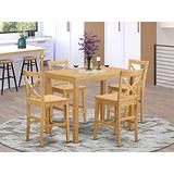5 Pc counter height Table and chair set - high Table and 4 counter height stool.