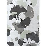 Surya Cosmopolitan COS-9172 Contemporary Hand Tufted 100% Polyester Icicle 8' x 11' Floral Area Rug
