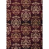 United Weavers of America Dallas Countess Rug - 2ft. 3n. X 7ft. 2in, Burgundy Red, Area Rug with Abstract Pattern, Jute Backing