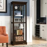 Darby Home Co Gallaher Curio Cabinet Wood/Glass in Brown, Size 75.0 H x 28.5 W x 14.5 D in | Wayfair DRBC7279 33120729