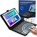 """Cooper Touchpad Executive [Multi-Touch Mouse Keyboard] case for 9-10.5"""" Tablets 