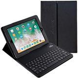 iPad Mini Case with Keyboard Alpatronix KX101 Leather iPad Cover w/Removable Wireless Bluetooth Keyboard Compatible w/Apple iPad Mini 5 (2019) 4/3/2/1 (Not for iPad Pro or iPad Air) - Black