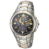 Coutura Men's Solar Perpetual Calendar Alarm Chronograph Watch