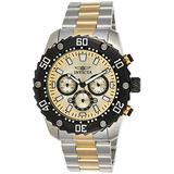 Invicta Men's Pro Diver Stainless Steel Quartz Watch with Two-Tone-Stainless-Steel Strap, 24 (Model: 22519)