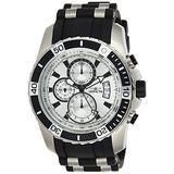 Invicta Men's Pro Diver Scuba 45mm Stainless Steel and Silicone Chronograph Quartz Watch, Black (Model: 22428)